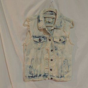 Forever 21 Jean Vest Women's Size Small